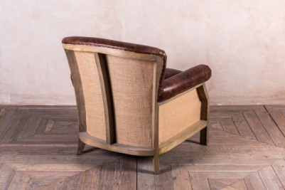 dark brown armchair