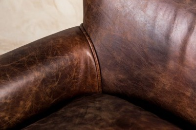 dark leather armchair