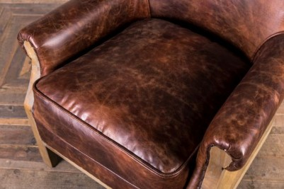 detailed leather armchair