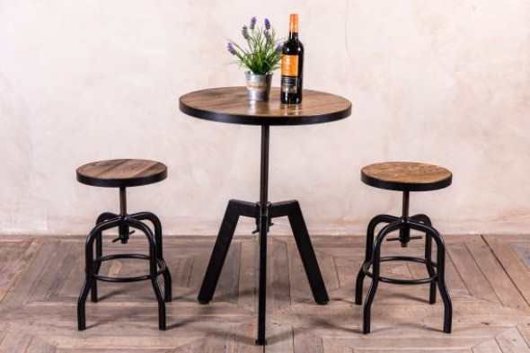 Round Adjustable Cafe Table Range