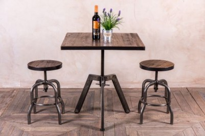 gunmetal height adjustable table