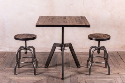metal adjustable height table