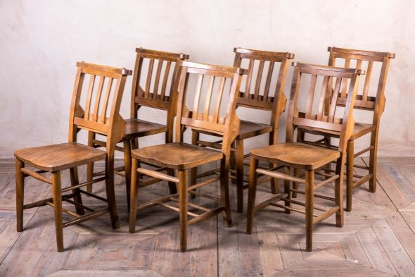 Edwardian Vintage Church Chairs