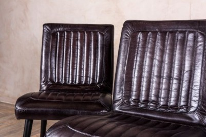 VINTAGE STYLE LEATHER CHAIRS TAN