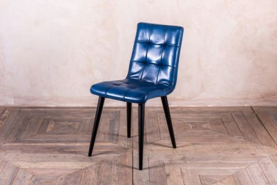 blue leather Ripon chair