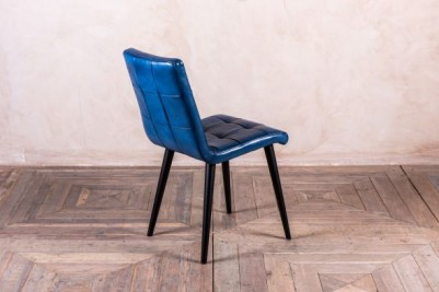 blue leather dining chair