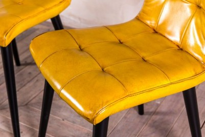 colourful leather dining chairs