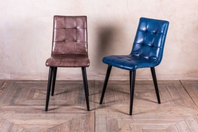 slim leather Ripon chairs