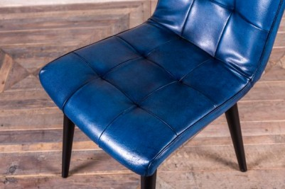slim leather dining chair