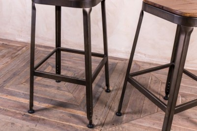 gunmetal Acton stool
