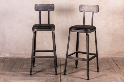 industrial look bar stools