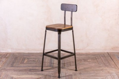 metal stool in gunmetal