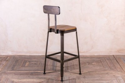 wooden seated Acton stool