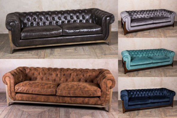 Dijon Chesterfield Style Tufted Sofa Range