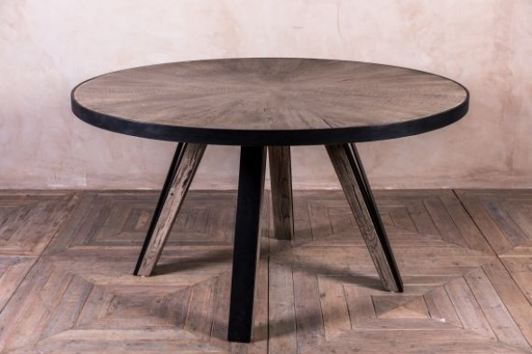 Athens Oak Kitchen Table in Pebble Grey - 140cm Round