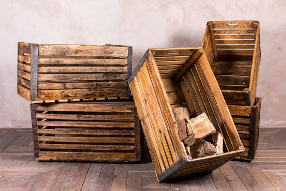 Industrial Wooden Crate Boxes