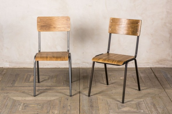 Battersea School Style Stackable Cafe Chair