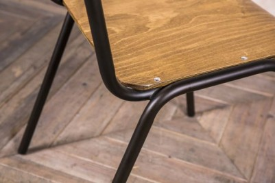 tubular steel dining chair