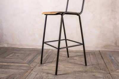 wood and metal stool