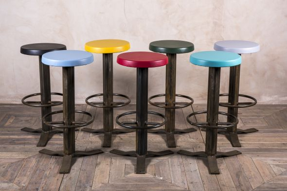 Bright Coloured Retro Bar Stools