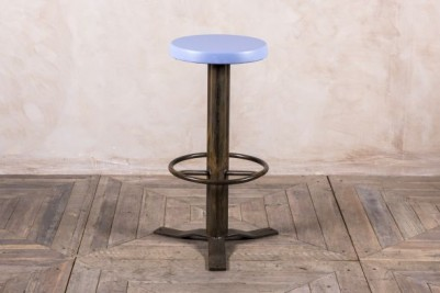 light blue retro bar stool