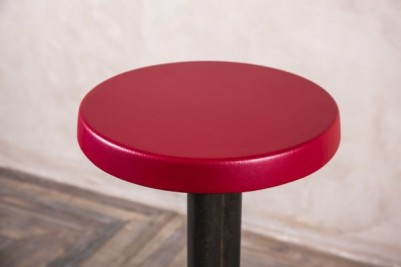 red retro stool