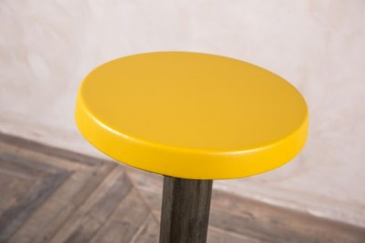 yellow retro stool