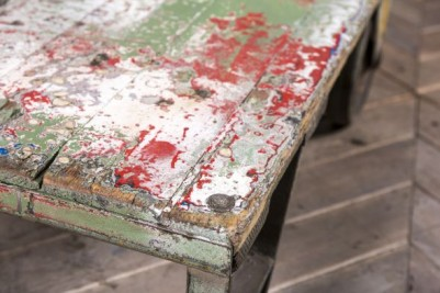 distressed paintwork trolley
