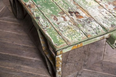 distressed trolley coffee table