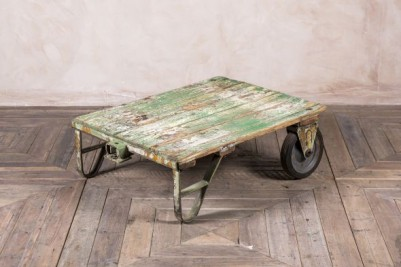green trolley coffee table