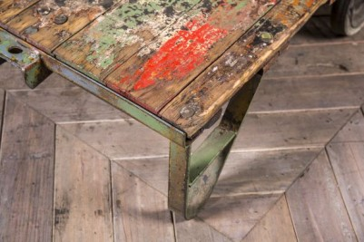 old industrial coffee table