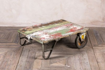 vintage trolley coffee table