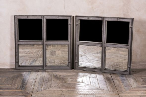 Reclaimed Vintage Window Frames with Mirrored Panes