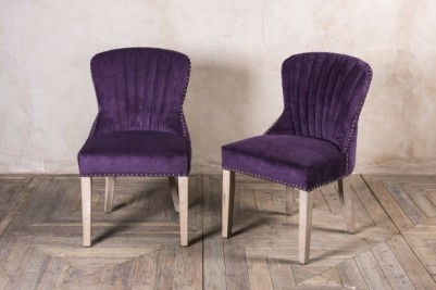 purple chenille dining chairs
