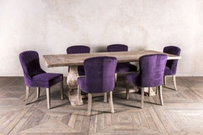 purple chenille dining set