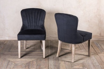 smoky black velvet boutique chairs