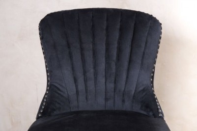 smoky black velvet chair