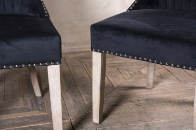 studded black dining chairs