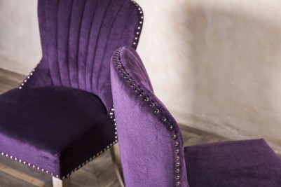 velevety purple chairs