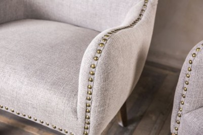 French style upholstered dining chair