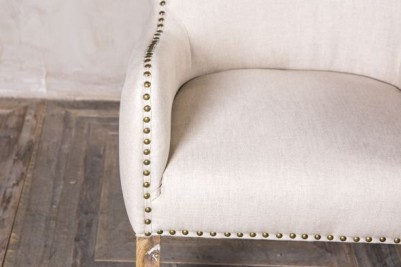 almond upholstered linen