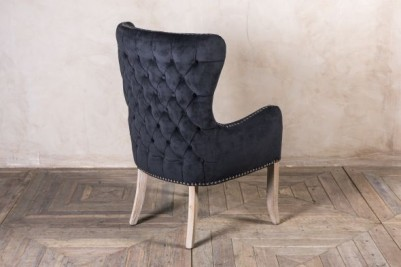black chair with arms