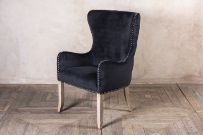 smoky black restaurant chair