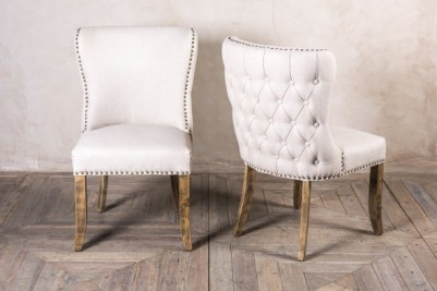 studded dining chair