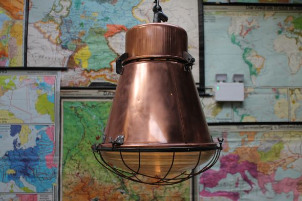 Industrial Copper Ceiling Lights