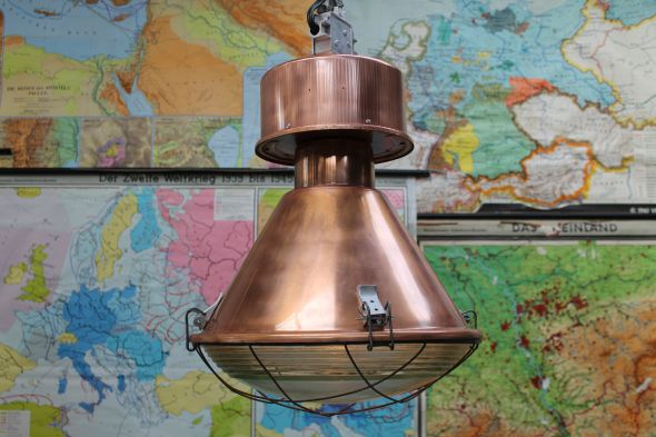 Large Industrial Copper Lights