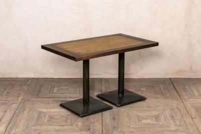 copper and wood top table