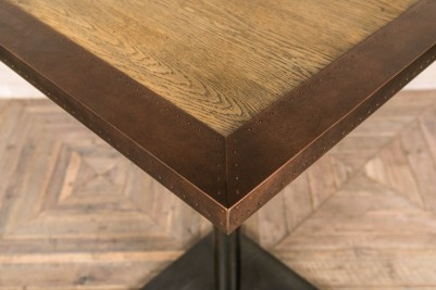 copper edge table top