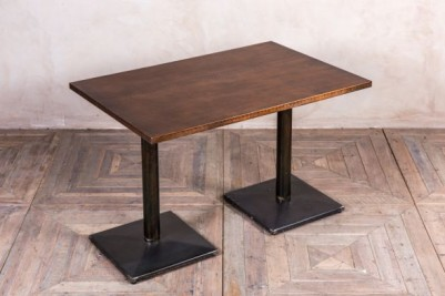 copper top double pedestal table