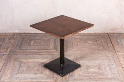 copper top pedestal table